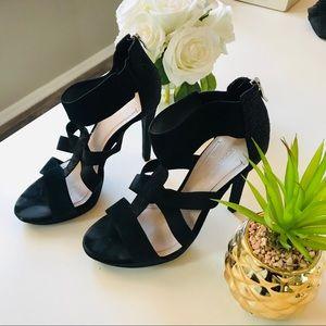 BCBGeneration Strappy Black Heels Size 10